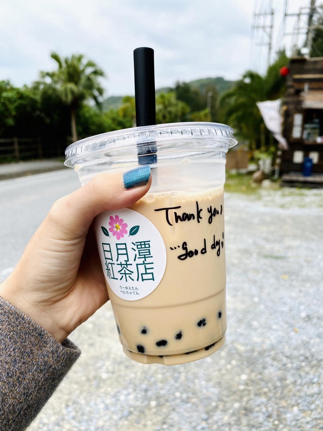 タピオカとサンドイッチ!日月潭紅茶店(恩納村)