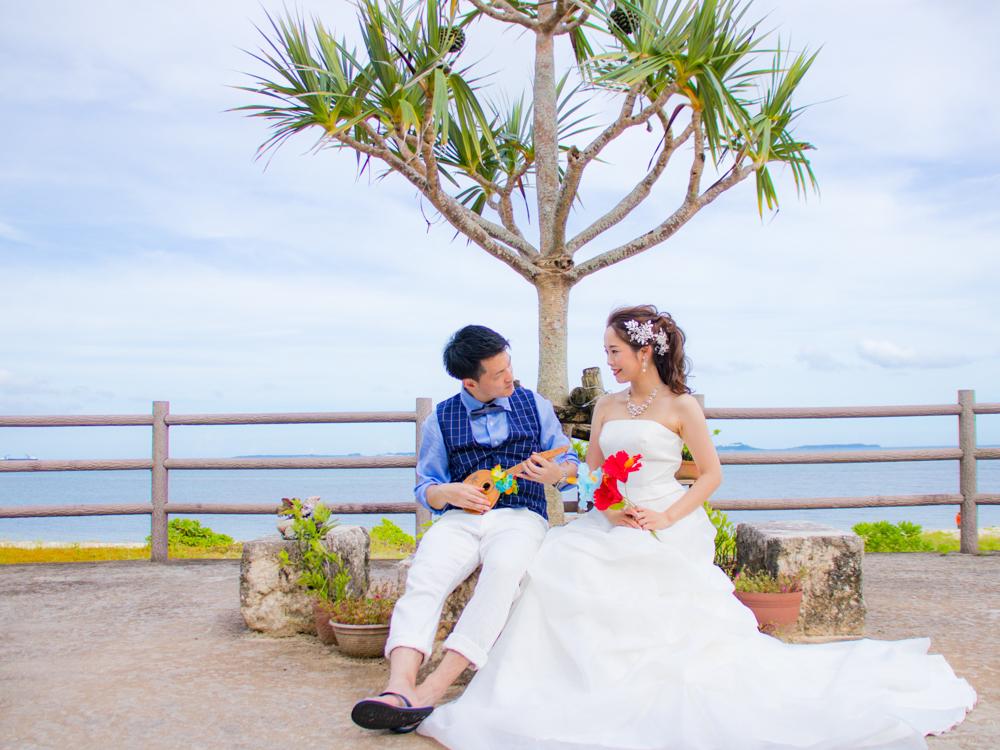 【撮影レポート】シーサーと一緒に沖縄らしいウェディングフォト