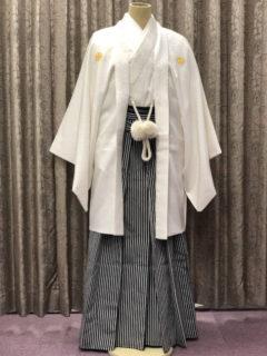 紋付羽織袴・白
