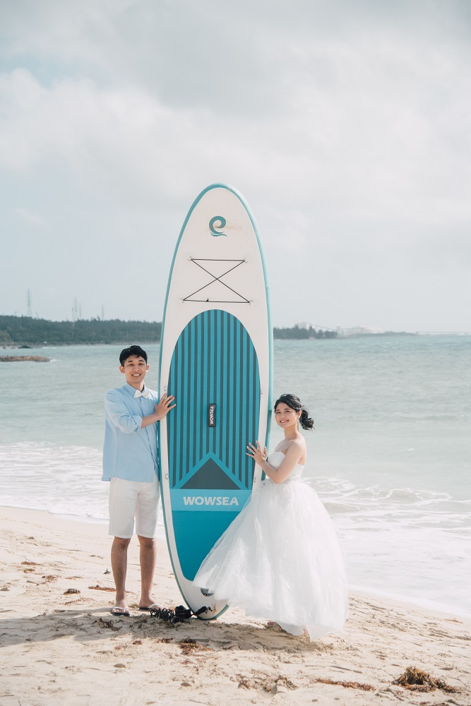 【撮影レポート】キラキラ光るビーチでSUPボード☆